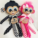 Personalised Monkey toy girl/boy