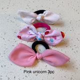 Bow hair tie sets