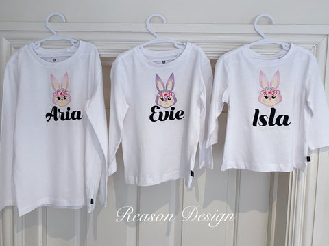 Personalised long sleeve bunny top