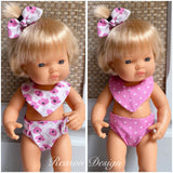 Medium Doll Nappy & Bib Sets