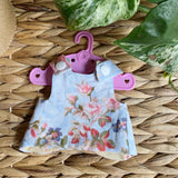 Small reversible doll dress (fits 21cm Miniland)