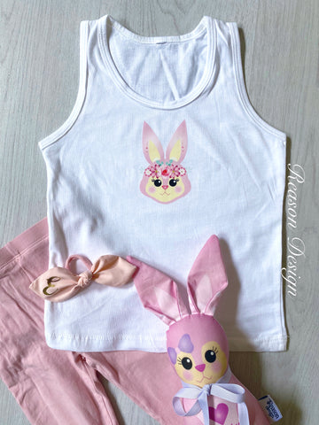 Personalised Bunny Tank Top Size 2-3