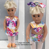 Large Doll 4pc clothing set