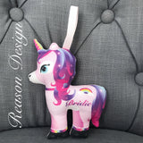 Mini Personalised Unicorn Decoration