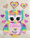 Rainbow owl kids room decor