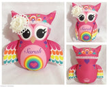 Hot pink personalised owl