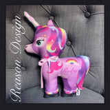 Personalised Unicorn cushion/toy