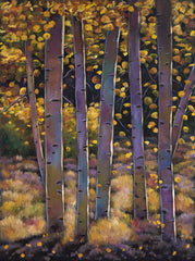 Santa Fe Forest Aspen Tree Stand in Fall Johnathan Harris Fine Art