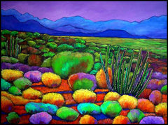 Johnathan Harris Contemporary Southwest Landscape Art Arizona Saguaro Cactus