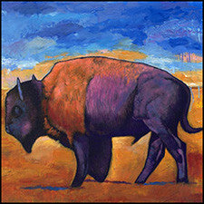buffalo art bison southwest wildlife johnathan harris wrecked tbs