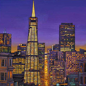 Urban cityscape paintings and fine art giclee prints by artist Johnathan Harris