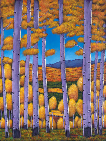 Aspen Country Pecos New Mexico Southwest Landscape Art Print by Contemporary Artist Johnathan Harris