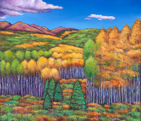 Aspen Southwest Wyoming Landscape Art Print Johnathan Harris