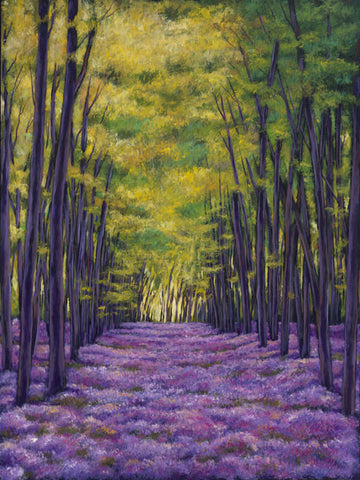 Johnathan Harris Contemporary European Landscape Art Print of Bluebell Vista