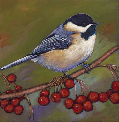 Cherries And Chickadee