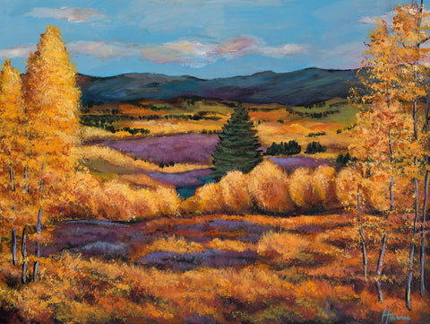 Boulder Colorado Aspen Southwest Landscape Art Print Johnathan Harris