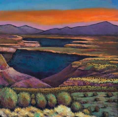 Rio Grande Gorge Taos, New Mexico Southwest Landscape Art Johnathan Harris