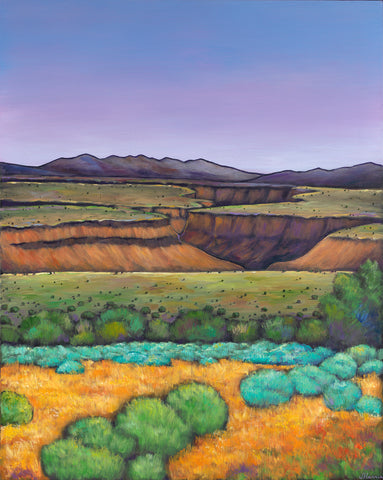 Desert Gorge Southwestern art prints by Johnathan Harris