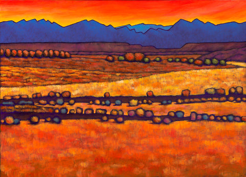 Santa Fe New Mexico Desert Southwest Landscape Art Johnathan Harris