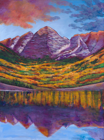 Aspen Colorado Southwest Landscape Art Print Johnathan Harris Fall Symphony