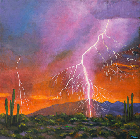 Organ Pipe Cactus Southwest Arizona Art Johnathan Harris Fire in the Sky