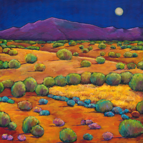 Moon and Sangre de Cristo Mountains Santa Fe, New Mexico Johnathan Harris Art