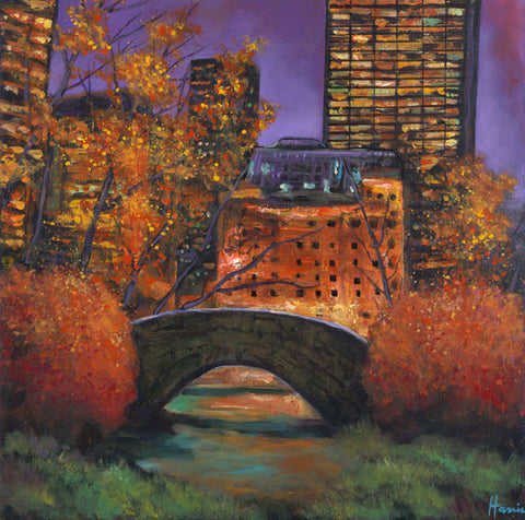 New York City: Autumn painting by Johnathan Harris