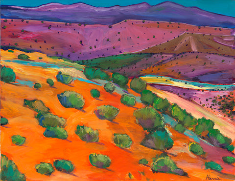 Sage Slopes Southwestern art prints by Johnathan Harris