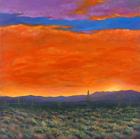 Saguaro Cactus Southwest Arizona Art Johnathan Harris Saguaro At Sunset