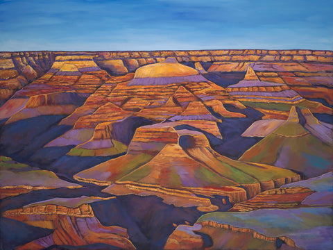 Shadows And Breezes Grand Canyon Painting and Prints Johnathan Harris