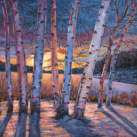 Contemporary Aspen Colorado Southwest Landscape Art Print by Johnathan Harris