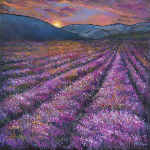 Tuscan Lavender painting by Johnathan Harris