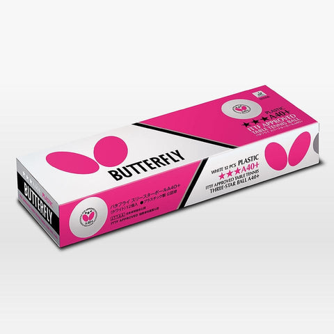 BUTTERFLY 3-STAR A40+ BALL ( 1 dozen )