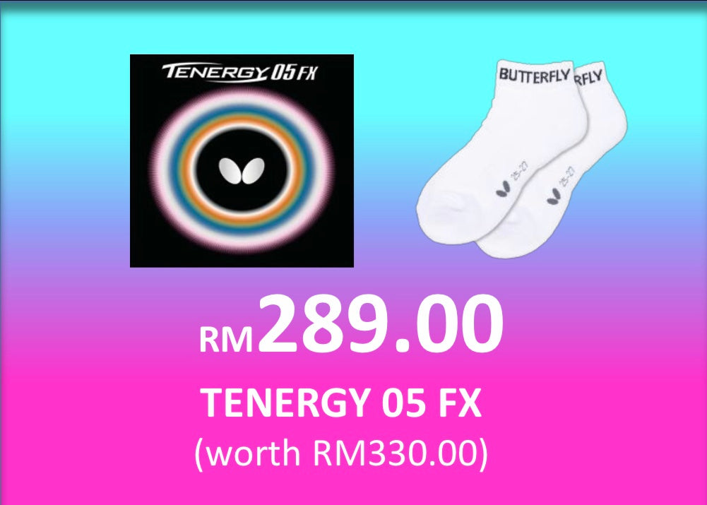NEW NORMAL SALES- BUTTERFLY TENERGY 05 FX + ILUNINE SOCKS