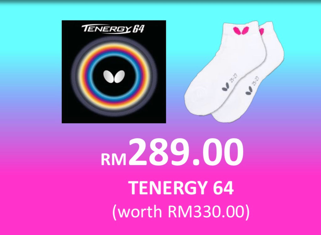 NEW NORMAL SALES- BUTTERFLY TENERGY 64 + ILUNINE SOCKS