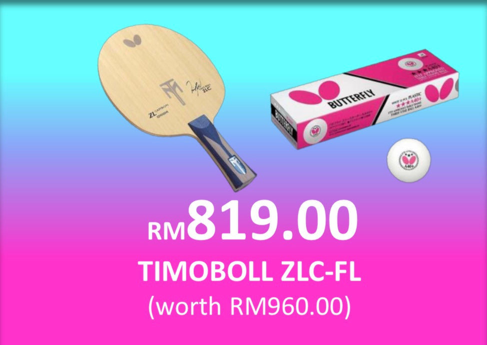 NEW NORMAL SALES- BUTTERFLY TIMOBOLL ZLC + BTY 3 STARS BALLS A40+ (1 DOZEN)