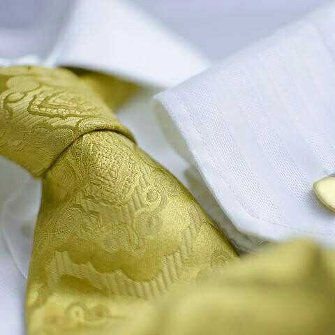 Rich Gold Brocade and Silk Tie