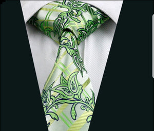 Woven Sea Green Paisley Patterned Men ties
