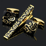 Black & Gilt Cufflinks.
