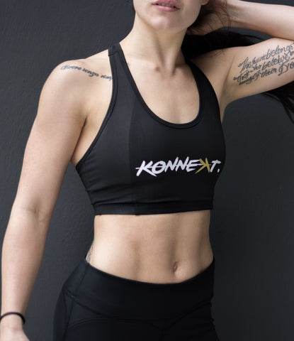 KONNEꓘT. Kween Sports Bra - Black - KONNEꓘT. Apparel
