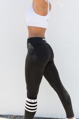 KONNEꓘT. Peach-Booty Leggings - Black Sock - KONNEꓘT. Apparel
