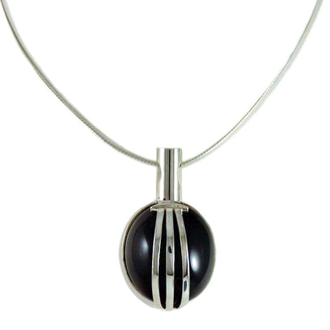 Retro Set Onyx Pendant