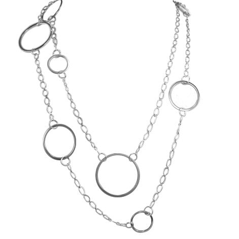 V/Long Linx and Chain Necklace