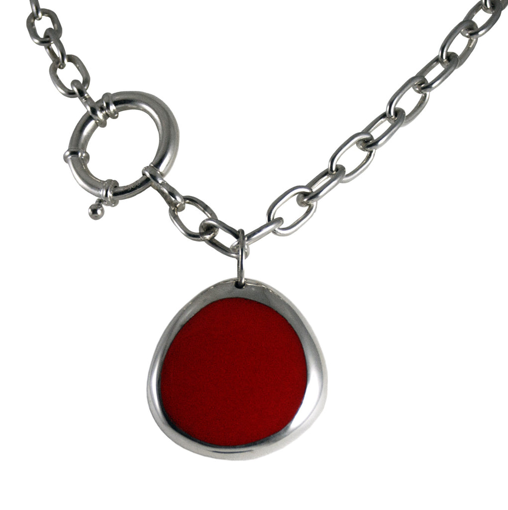 Large Linx Pendant w/Red Resin