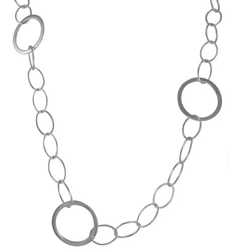 Oval Chain w/Round Linx Necklace