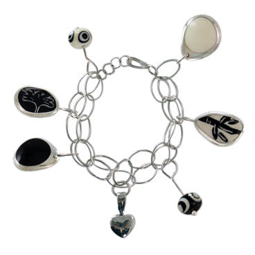 Eye Candy charm bracelet w/extender chain for necklace