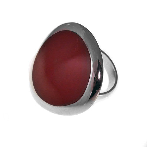 Large Linx ring w/red resin