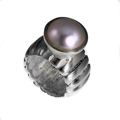 Ridge Pearl Ring