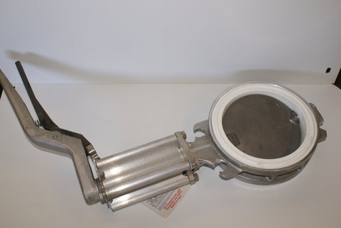 "6"" Butterfly Valve Stainless Disc/MAXX Temp White Rubber with ext 6""(part # 6-790-501-EXT-6"")"