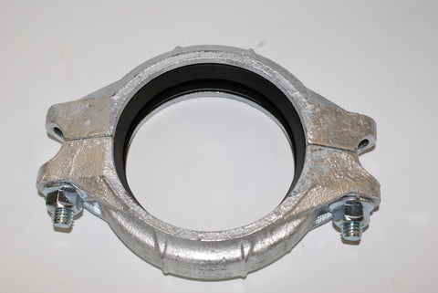 "Standard Grooved Galvanised Coupling 6"" (part # P756G)"
